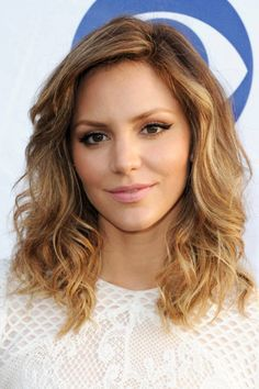 medium layered haircut with ombre