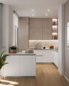Kitchen Room Design, Kitchen Cabinet Design, Modern Kitchen Design, Home Decor Kitchen, Kitchen Living, Interior Design Kitchen, Home Kitchens, Kitchen Ideas, Grey Kitchens