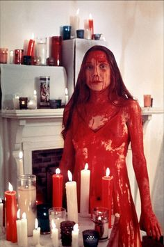 "I was just thinking that this woud be a great and easy DIY Halloween costume... Sissy Spacek (1949 - ) as Carrie in ""Carrie"", 1976. age 27 #actor"