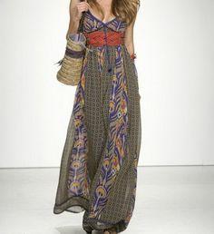 Robe longue hippie chic