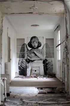 Yz Yseult, unique street art, great street artists, free walls, graffiti art.