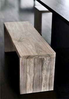 love the wooden bench.