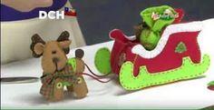 Reindeer and Christmas sleigh made of felt. Felt Christmas Ornaments, Christmas Balls, Christmas Crafts, Christmas Decorations, Holiday Crafts, Holiday Decor, Santa Sleigh, Lol Dolls, All Things Christmas