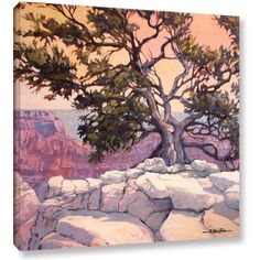 Rick Kersten North Rim Tree Gallery-Wrapped Canvas, Size: 18 x 18, Beige