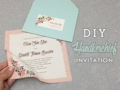 DIY Vintage Hanky Wedding Invitation with Free Template....could use for shower invite or for hankies for wedding guests' happy tears