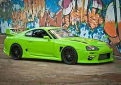 Green Toyota Supra Mark IV