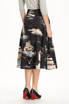 "Sail away circle skirt.  #anthropologie  Apparently, I am into the ""Ms. Frizzle"" look lately..."