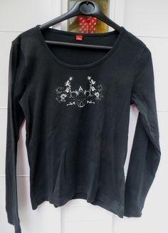 Kaufe meinen Artikel bei #Kleiderkreisel http://www.kleiderkreisel.de/damenmode/langarmlig/105347198-schwarzes-shirt-von-s-oliver
