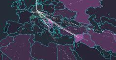 Flyktingströmmen mot Europa.