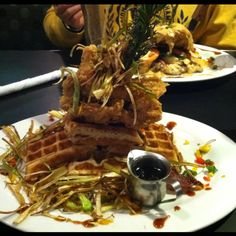 "Sage fried chicken & bacon waffles at ""Hash House a Go Go"" at the Imperial Palace - Las Vegas"