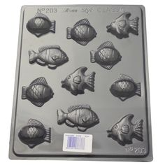 What a great selection of fish on this small fish chocolate mould Chocolate Molds, How To Make Chocolate, Chocolate Making, Small Fish