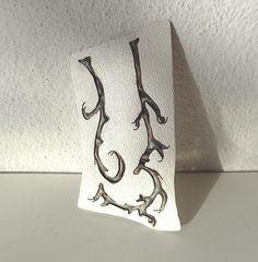 flower brooch silver jewelry art broach