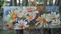 Tulip Painting, Acrylic Painting Canvas, Canvas Art, Watercolor Flowers, Watercolor Paintings, Art Room Doors, Garden Mural, Colored Pencil Artwork, Art Thomas