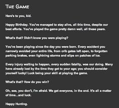 The game- Creepy short story