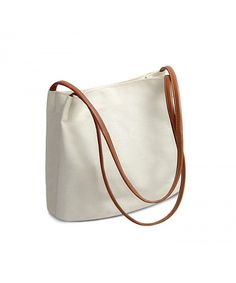 cb60d608675f Vintga Women Canvas Handbag Shoulder Bag Purse Big Tote Bag - Type2  Creamy-white -