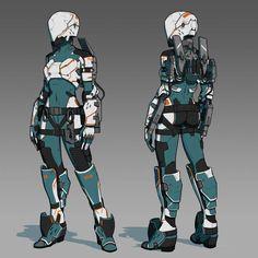 Cyborg girl 34 by AlpYro on DeviantArt Robot Concept Art, Armor Concept, Character Concept, Character Art, Magic Armor, Mode Cyberpunk, Cyborg Girl, Futuristic Armour, Female Armor