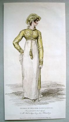 Walking dress with spencer 1804
