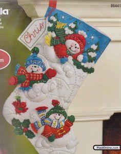 Bucilla Felt Applique Christmas Stocking Kit    by DebiCreations, $14.99