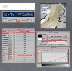 Vray Linen Material 3ds max