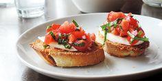 To stk. færdige bruschetta med tomat og mozzarella