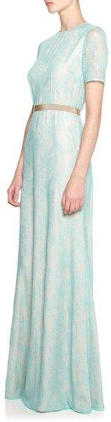 Peter Som Lace Dress in Blue (aqua) - Lyst