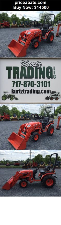 Heavy-Equipments: Nice Kubota B2320 4x4 Compact Tractor W/ Loader! - BUY IT NOW ONLY $14500