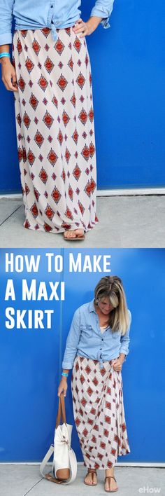 DIY your own adorable maxi skirt with this step-by-step tutorial. Great beginner sewing project, it's that easy! http://www.ehow.com/how_11368783_make-maxi-skirt.html?utm_source=pinterest.com&utm_medium=referral&utm_content=freestyle&utm_campaign=fanpage