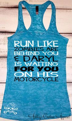 Inspirational Work Out Tank Tops, Funny Fitness Apparel, Zombie Shirts, Zombie Apocalypse Partner, Fitness Apparel, Running Shirt, Gym Tank by AshleysCustomApparel