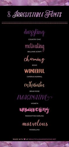 A roundup of pretty handwriting fonts. Which one is your favorite? I love Manhattan Darling!