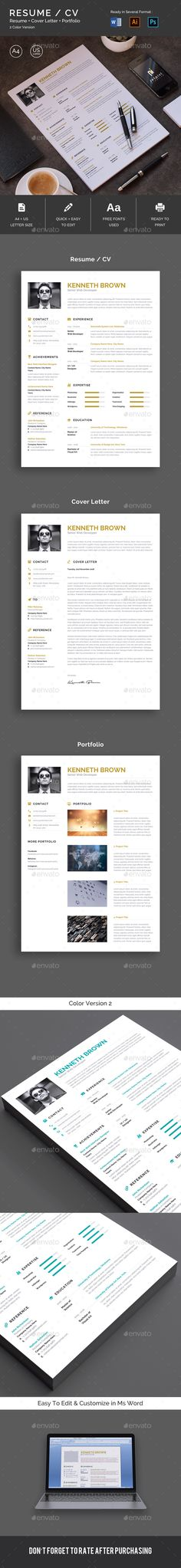 - Resumes Stationery This is Modern & Professional Resume/CV Template. The Template design is friendly use with strong typographic and structure. This Resume Template is Clean, Modern, Professional, and very well organized. Resume Layout, One Page Resume, Resume Cv, Cv Design, Resume Design, Graphic Design, Best Resume Template, Cv Template, Stationery Templates