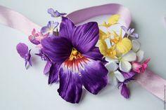 Браслеты ручной работы. Ярмарка Мастеров - ручная работа. Купить Орхидеи из шелка. Цветы из шелка, шелковые цветы, орхидеи из ткани. Handmade.