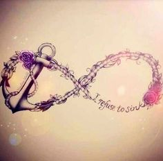 I refuse to sink ... I don't think I would ever get a tattoo, but if I were to do it, this would be the general idea