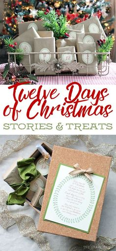 This is the cutest idea for the Twelve Days of Christmas. Every day there's a heartwarming story and a coordinating treat. Such a great way to remember the true meaning of Christmas and would be a really fun neighbor gift or Secret Santa gift. Free printable poem, stories and tags. Just add the treats!