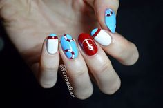 Nautical nails inspired by and made with MoYou London stamping plates!