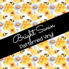 Patterned Vinyl & HTV - Bees 01 Best Settings, Craft Cutter, Patterned Vinyl, Sheet Sizes, All Brands, Heat Transfer Vinyl, Adhesive Vinyl, Cricut, How To Apply
