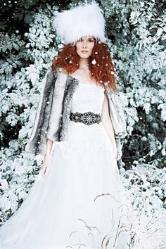 Wedding fashion guide for winter brides: From twinkling dresses to faux fur shrugs, we've got lots of ideas and style inspiration for winter weddings