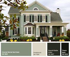 Green exterior paint trend 2015