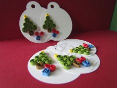 Quilled Christmas Tree Gift Tags