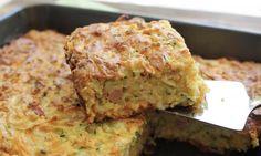 How to make bacon and sweet potato slice