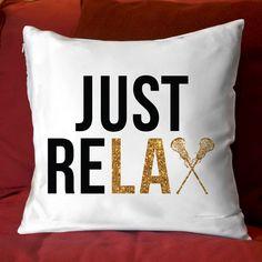 "Lacrosse 14"" x 14"" Pillow | LuLaLax.com"