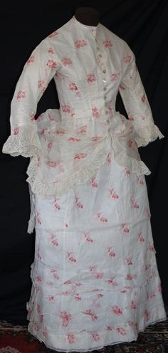 I think this is actually a naturalform dress from 1878-ish.  I love these sheer summer dresses.