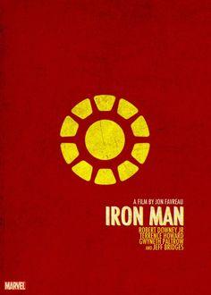 Iron Man | Affiche de film #minimaliste #print #movie