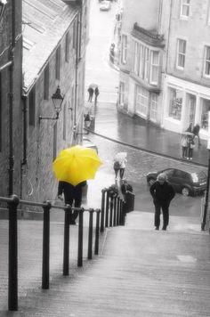 rainy umbrella in Edinburgh - Scotland