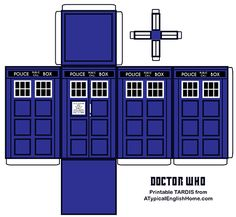 A Typical English Home: Doctor Who Printable TARDIS And Editable Party Favor