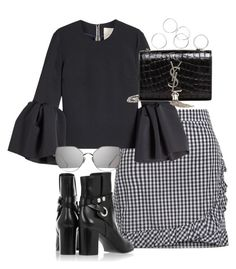 """""""Untitled #3748"""" by theeuropeancloset on Polyvore featuring Roksanda, Isabel Marant, Gentle Monster and Yves Saint Laurent"""