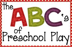 Great pre-school ideas for every letter of the alphabet!