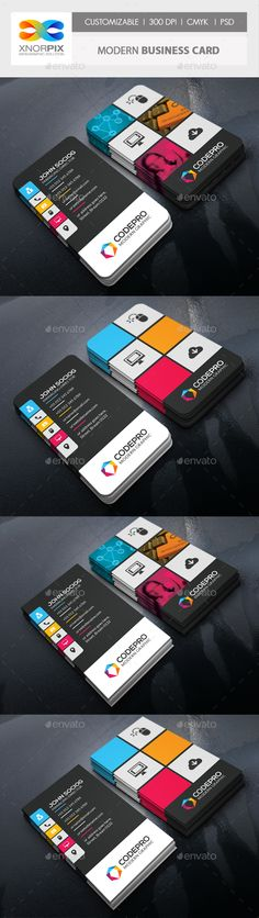#Modern #Business Card - Creative Business #Cards Download here: https://graphicriver.net/item/modern-business-card/3025368?ref=alena994