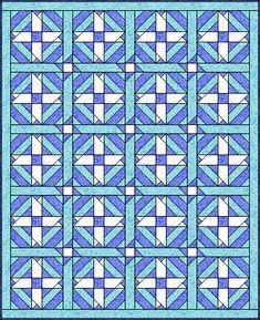 Ribbon Cross quilt layout