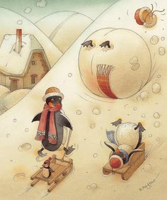 Penguins by Kestutis Kasparavicius