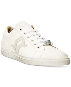 John Galliano White Low-Top Sneakers